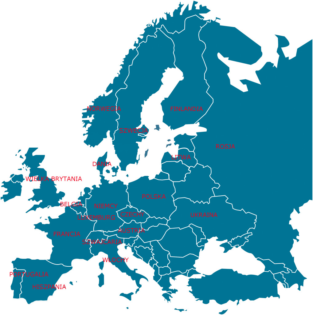 mapa europy katalog